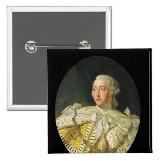 Portrait of King George III  after 1760 15 Cm Square Badge
