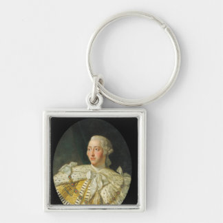 Portrait of King George III  after 1760 Keychain