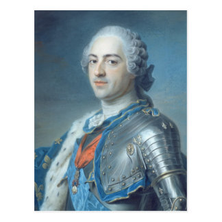 Portrait of King Louis XV  1748 Postcard