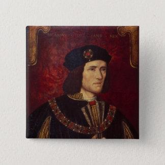 Portrait of King Richard III 15 Cm Square Badge