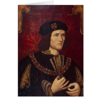Portrait of King Richard III Greeting Card