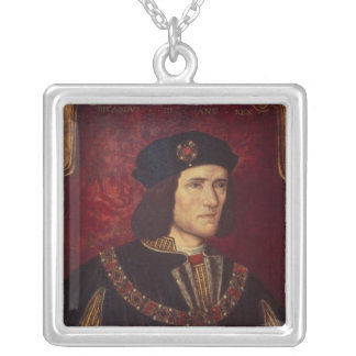 Portrait of King Richard III Silver Plated Necklace