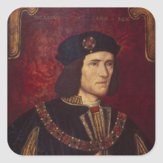 Portrait of King Richard III Square Sticker