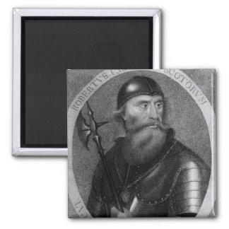 Portrait of King Robert I of Scotland Square Magnet