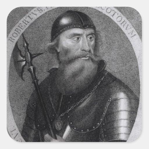 Portrait of King Robert I of Scotland Square Sticker