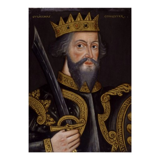 Portrait of King William I The Conqueror Posters