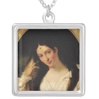 Portrait of 'La Malibran' Silver Plated Necklace