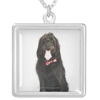 Portrait of Labradoodle dog Square Pendant Necklace