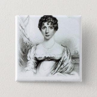 Portrait of Lady Caroline Lamb 15 Cm Square Badge