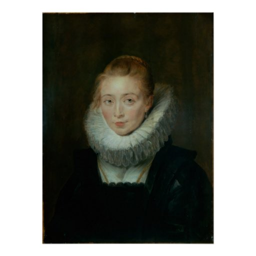 Portrait of Lady-in-Waiting to the Infanta Isabell Print
