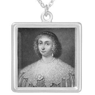 Portrait of Lady Viscountess Falkland Silver Plated Necklace