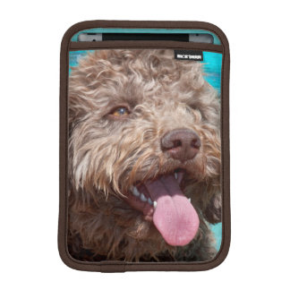 Portrait Of Lagotto Romagnolo In Front Of Blue iPad Mini Sleeve