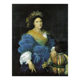 Portrait Of Laura De'Dianti By Tiziano Vecellio 21.5 Cm X 28 Cm Flyer