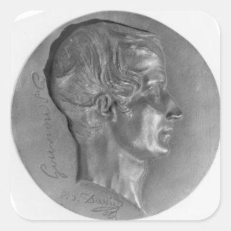 Portrait of Laurent de Gouvion Saint-Cyr Square Sticker