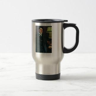 Portrait of lawyer Oskar Grusenberg by Ilya Repin 15 Oz Stainless Steel Travel Mug