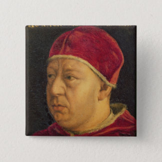 Portrait of Leo X 15 Cm Square Badge