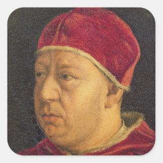 Portrait of Leo X Square Sticker