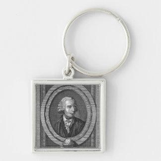 Portrait of Leonard Euler Key Ring