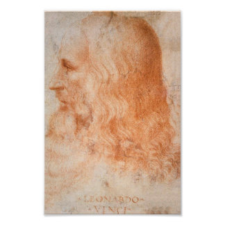 Portrait of Leonardo da Vinci Poster