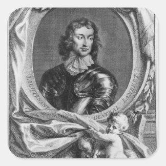 Portrait of Lieutenant General John Square Sticker