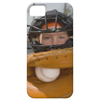 Portrait of little league catcher iPhone 5 cover