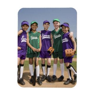 Portrait of little league teams magnet