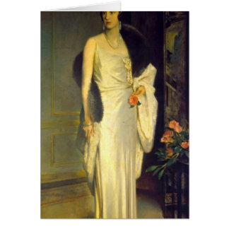 Portrait of Loelia, Duchess of Westminster Card