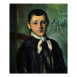 Portrait of Lois Guillaime by Paul Cezanne Poster