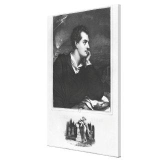 Portrait of Lord Byron Canvas Print