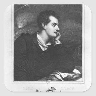 Portrait of Lord Byron Square Sticker