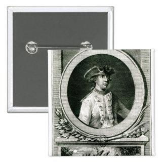 Portrait of Louis, chevalier d'Assas 15 Cm Square Badge