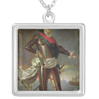 Portrait of Louis-Jean-Marie de Bourbon Silver Plated Necklace