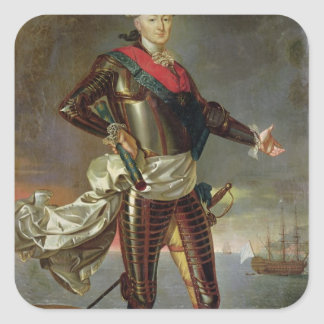 Portrait of Louis-Jean-Marie de Bourbon Square Sticker