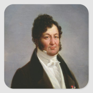 Portrait of Louis-Philippe  King of France Square Sticker