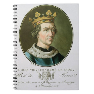 Portrait of Louis VIII, Called 'Le Lion', King of Note Books