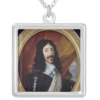 Portrait of Louis XIII  after 1610 Silver Plated Necklace