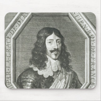 Portrait of Louis XIII  engraving by Jean Morin Mouse Mat