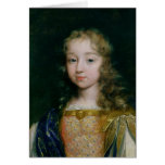 Portrait of Louis XIV as a child Greeting Card