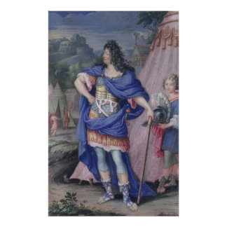 Portrait of Louis XIV  King of France Poster