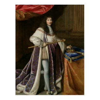Portrait of Louis XIV Postcard