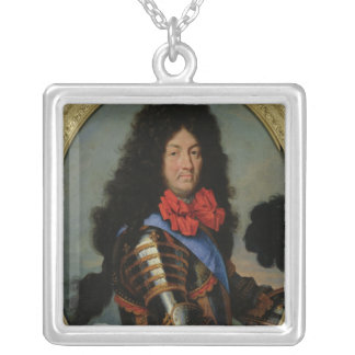 Portrait of Louis XIV Silver Plated Necklace
