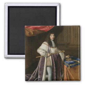 Portrait of Louis XIV Square Magnet