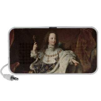Portrait of Louis XV  in Coronation Robes, 1715 Mini Speaker