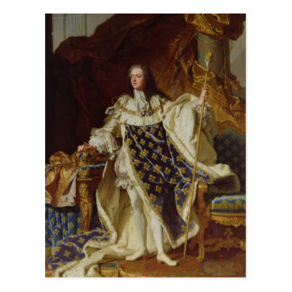 Portrait of Louis XV in his Coronation Robes Postcard