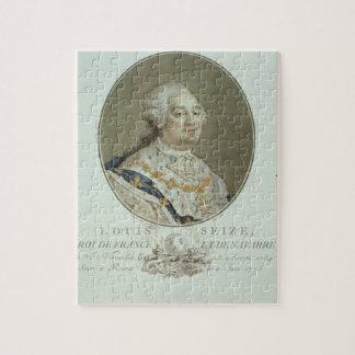 Portrait of Louis XVI (1754-93) from 'Portraits de Jigsaw Puzzle