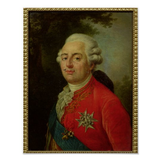 Portrait of Louis XVI  King of France Poster