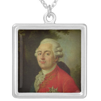 Portrait of Louis XVI  King of France Silver Plated Necklace