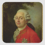 Portrait of Louis XVI  King of France Square Sticker