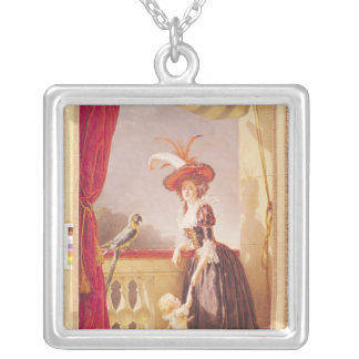 Portrait of Louise-Elisabeth de France and her Silver Plated Necklace