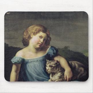 Portrait of Louise Vernet as a Child, 1818-19 Mouse Mat